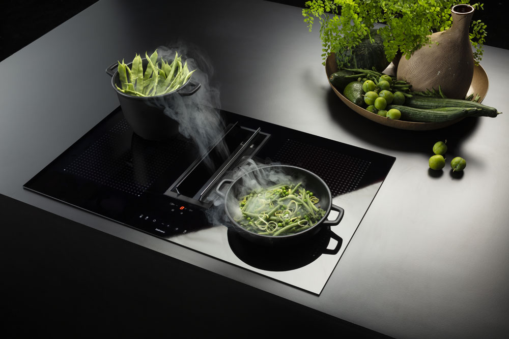 quantum garų surinkimo sistema virtuvėje