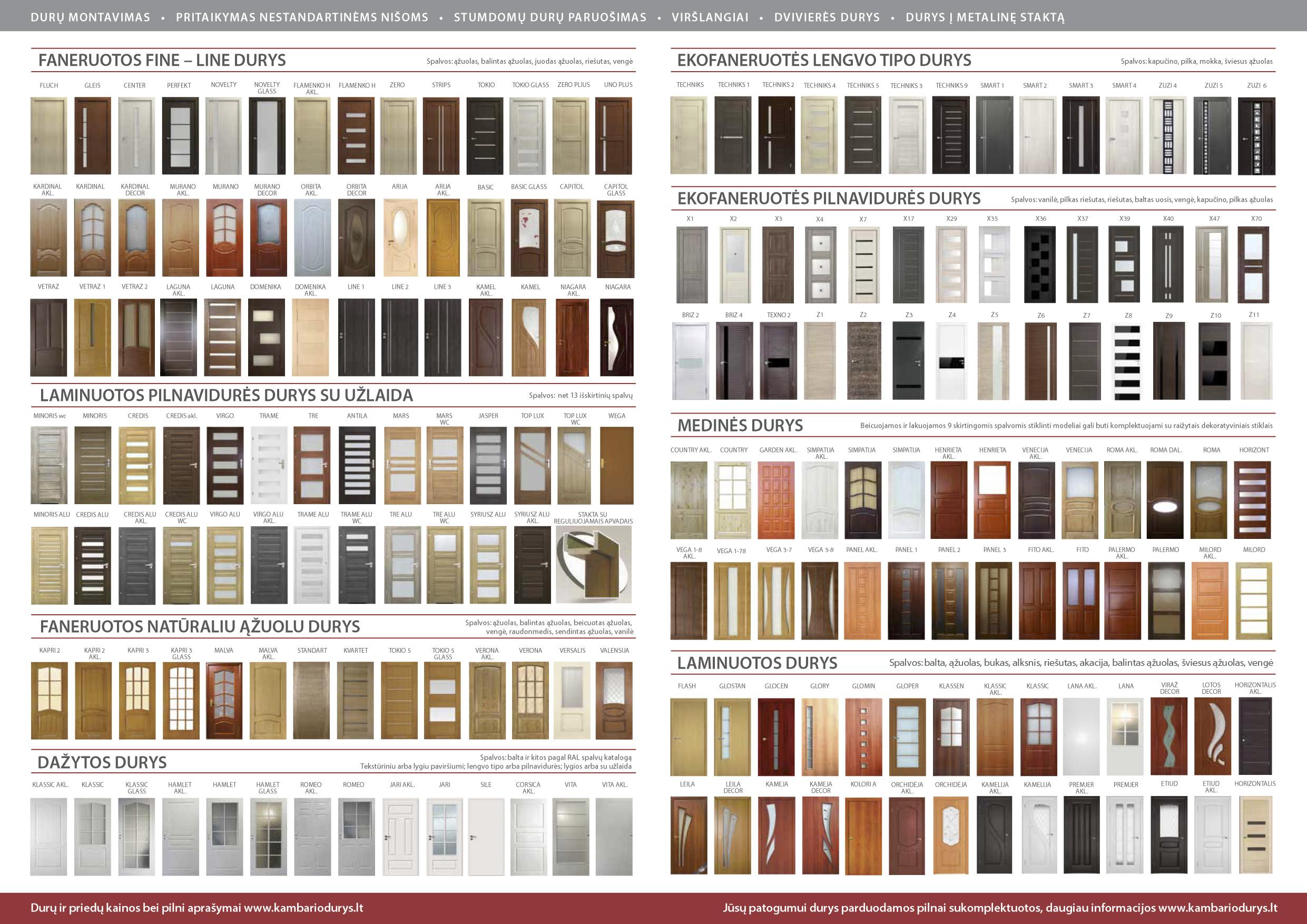 Kmabario durų katalogas