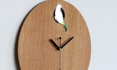 medinis laikrodis interjere