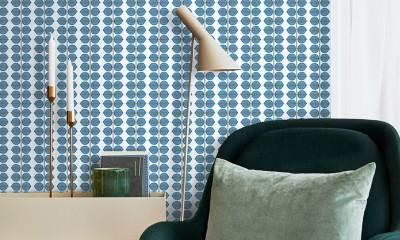 metų spalva interjero dekoravime, tapetai