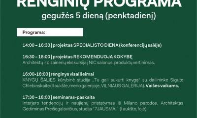 Dizaino savaitės Šiauliuose programa