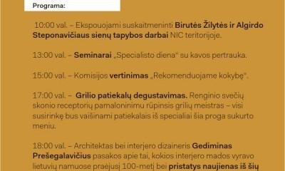 Dizaino savaitė programa Kaune