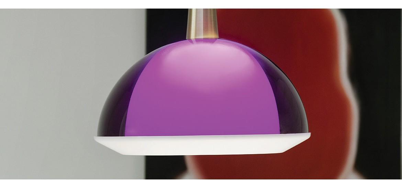 violetinis šviestuvas