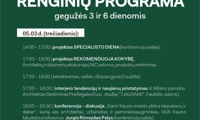 Dizaino savaitės Kaune programa